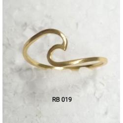 RB 019-4 ANILLO Ola bañado oro